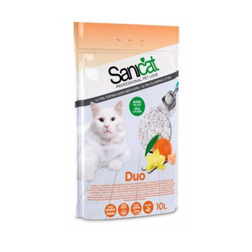 خاک گربه، دارای رایحه نارنگی و وانیل،۱۰ لیتری، مدل دو، برند سانی کت