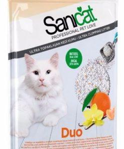 خاک گربه، دارای رایحه نارنگی و وانیل، با خاصیت جمع شوندگی بالا، ۱۰ لیتری، مدل دو، برند سانی کت