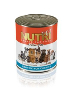 NutriPet Canned Dog Food Chicken Pate 850 gr