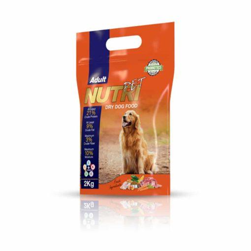 غذای خشک سگ بالغ با ٪۲۱ پروتئین، 2 کیلوگرمی، برند نوتری پت