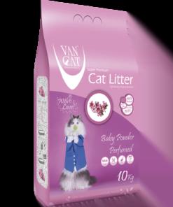 خاک گربه ون کت، اُلترا کلامپینگ، با رایحه پودر بچه، 10 کیلوگرمی