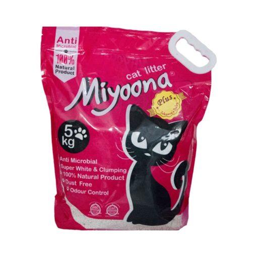 خاک گربه، با رایحه پودر بچه، ۵ کیلوگرمی، برند میونا