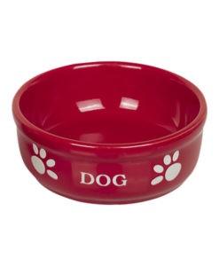 SinaVet Nobby Ceramic Bowl Red DOG