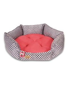 SinaVet NinaPet HexaGonal Bed jsh1 dots red