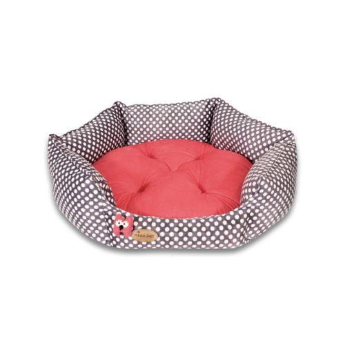جای خواب شش ضلعی، سایز 1، برند نیناپت، خالخالی و قرمز