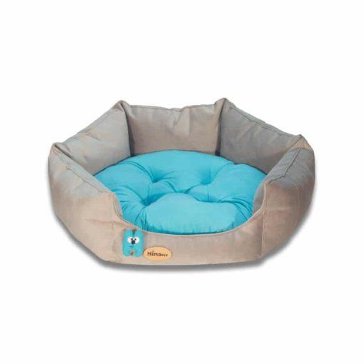 جای خواب شش ضلعی، سایز 1، برند نیناپت، خاکستری فیروزه ای