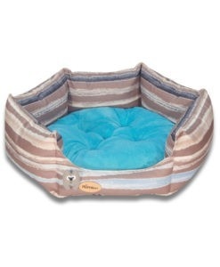 SinaVet NinaPet Hexagonal Bed Vip JSHV1 srtiped cyan