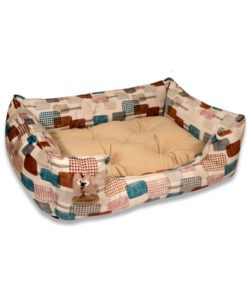 SinaVet NinaPet U Shaped Bed Size 1 Vip juv1 patterned cream