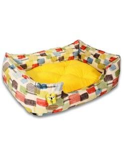 SinaVet NinaPet U Shaped Bed Size 1 Vip juv1 patterned yellow