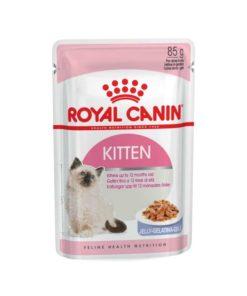 پوچ بچه گربه ۴ تا ۱۲ ماه در ژله، ۸۵ گرمی، برند رویال کنین