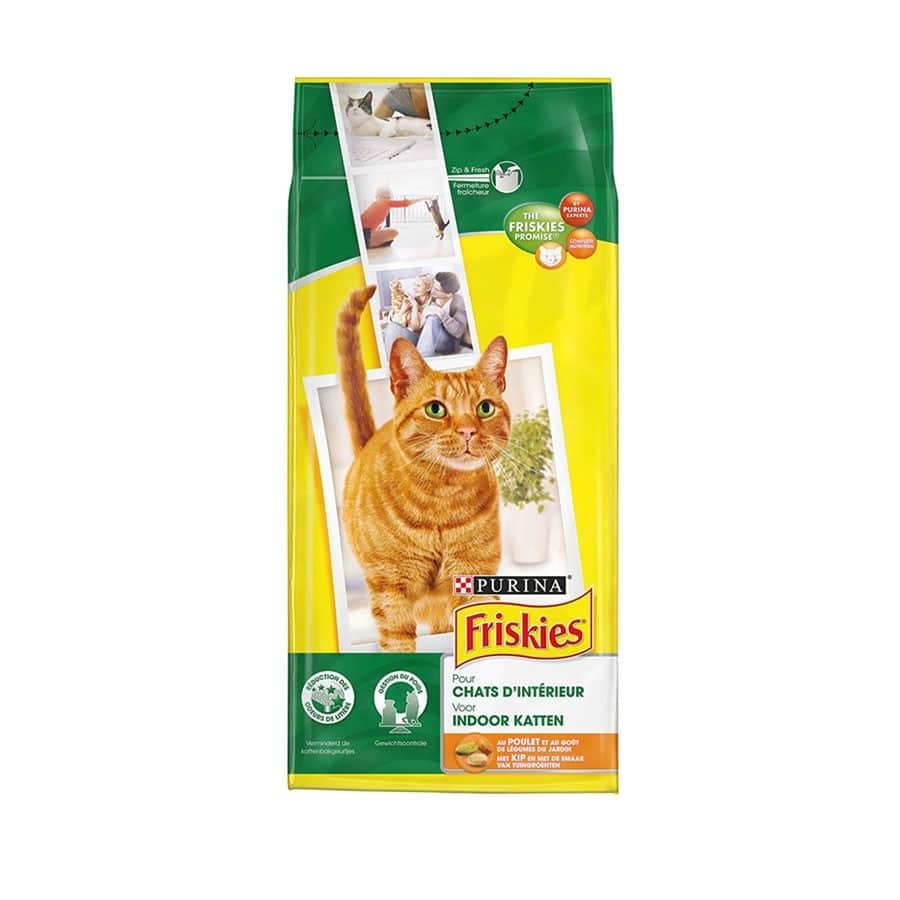 Sinavet Friskies Cat Dry Food Indoor Chicken with Taste of Garden Vegetables 2kg