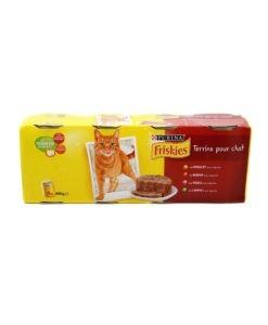 Sinavet Frieskies wet food cat can 4X Terrine pour chat