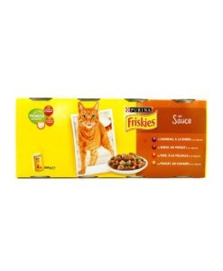 Sinavet Frieskies wet food cat can 4X en sauce