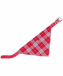 قلاده گردنی به همراه دستمال گردن، با طرح چهارخانه، قرمز، برند نوبی