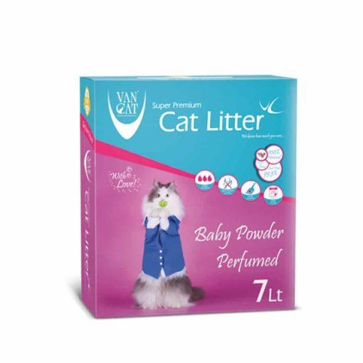 Sinavet VanCat Ultraclupming Cat Litter Baby Powder 7 L VNYD048