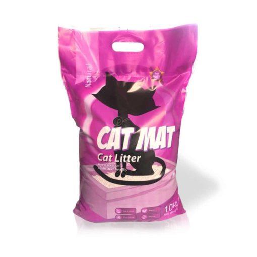 خاک گربه، با خاصیت جمع شوندگی، بدون رایحه، ۱۰ کیلوگرمی، برند کت مت