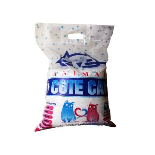 خاک گربه، با خاصیت جمع شوندگی، بدون رایحه، ۱۰ کیلوگرمی، برند کیوت کت