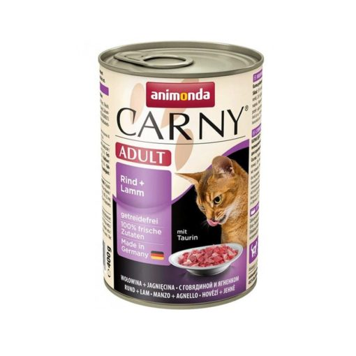 Sinavet Animonda Carny Cat Wet Food Adult Beef and Lamb 400 g