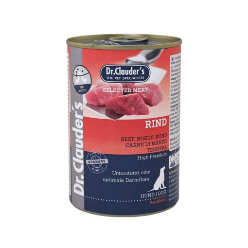 Sinavet Dr. Clauder's Dog Wet Food rind Beef 400 g