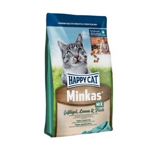 غذای خشک گربه بالغ، میکس، مدل مینکاس، برند هپی کت