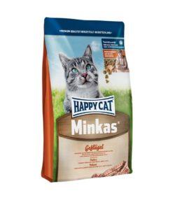 غذای خشک گربه بالغ، حاوی مرغ، مدل مینکاس، برند هپی کت