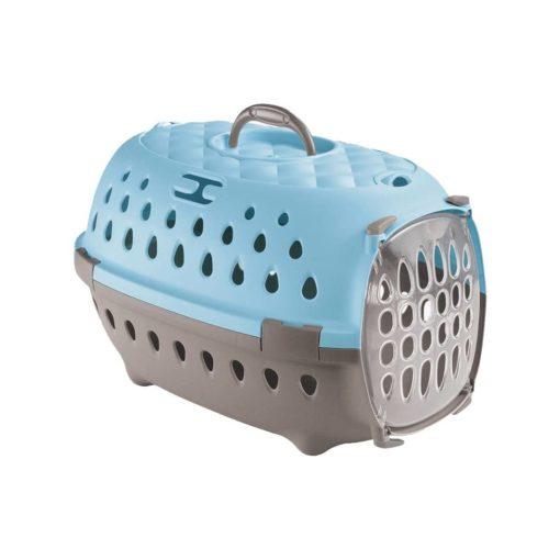 باکس حمل حیوانات، رنگ آبی، مدل تراول شیک، برند استفان پلاست