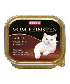 غذای کاسه ای مخصوص گربه بالغ حاوی گوشت شکار گوساله و مرغ 100 گرمیبرند ووم فیستن