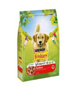 غذای خشک سگ های خانگی و نگهبان، مدل اکتیو، 3 کیلوگرمی، برند فریسکیز