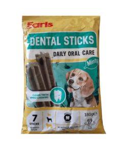 تشویقی دندانی، مخصوص سگ، با طعم نعنا، 7 عددی، 180 گرمی، برند ارلز