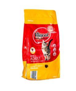 غذای خشک گربه بالغ، حاوی گوشت مرغ، 750 گرمی، برند ویتاکت