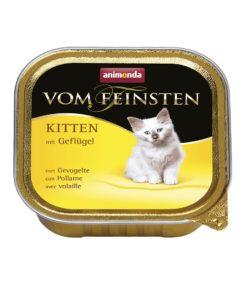 غذای کاسه ای مخصوص بچه گربه، حاوی گوشت پرندگان، 100 گرمی، برند ووم فیستن