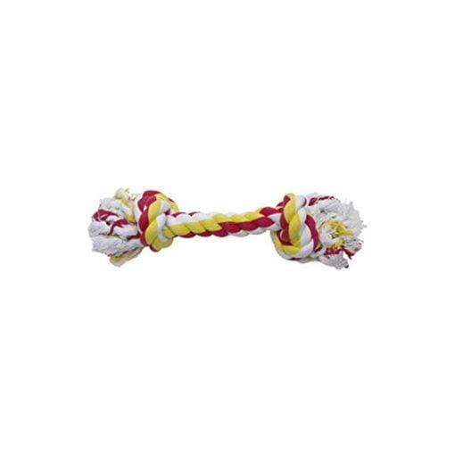 اسباب بازی دندانی کنفی، طعم دار، موز و توت فرنگی، 18 سانتیمتر، برند داگ ایت