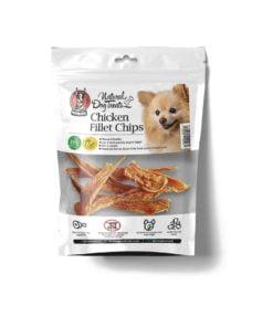 تشویقی چیپس فیله مرغ، مخصوص سگ، 50 گرمی، برند هاپومیل