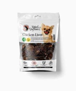 تشویقی جگر مرغ، مخصوص سگ، 100 گرمی، برند هاپو میل
