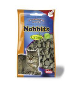 تشویقی مخصوص گربه نوبینس، حاوی کت نیپ و ویتامین، 75 گرمی، برند نوبی