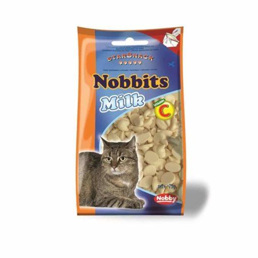 تشویقی مخصوص گربه نوبینس، حاوی شیر و ویتامین سی، 75 گرمی، برند نوبی