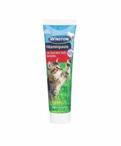 خمیر مولتی ویتامین و آنتی هربال گربه، 100 گرمی، برند وینستون