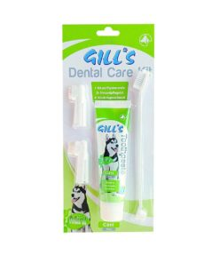 ست مسواک و خمیر دندان، با دو مسواک انگشتی، مخصوص سگ، برند جیلز