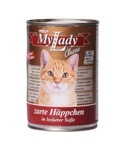 کنسرو مخصوص گربه، حاوی گوشت گوساله و جگر، 415 گرمی، برند دکتر آلدرز