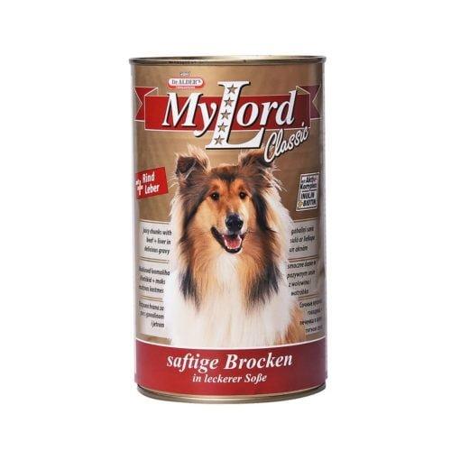 کنسرو مخصوص سگ، حاوی گوشت گوساله و جگر، 415 گرمی، برند دکتر آلدرز