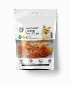 تشویقی چیپس سینه مرغ، مخصوص گربه، 50 گرمی، برند هاپومیل