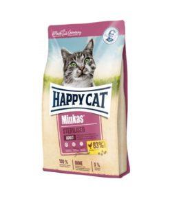 غذای خشک گربه بالغ، عقیم شده، 10 کیلوگرمی، مدل مینکاس، برند هپی کت