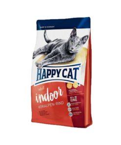 غذای خشک گربه بالغ داخل خانه، حاوی گوشت گوساله، برند هپی کت، 1.4 کیلوگرمی