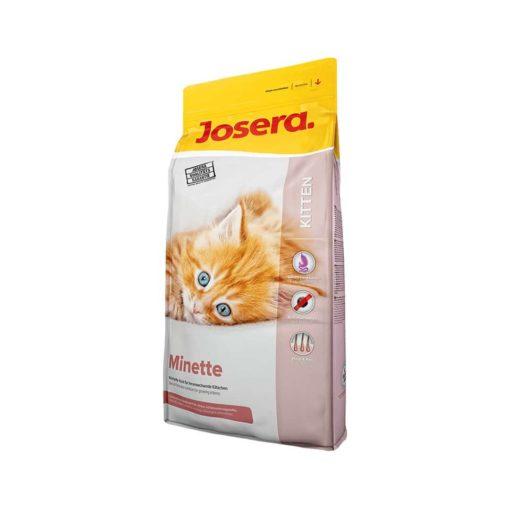 غذای خشک بچه گربه و مادر، حاوی گوشت مرغ، 400 گرمی، مدل مینته، برند جوسرا