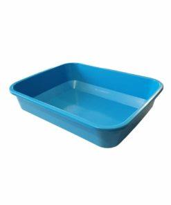 ظرف خاک گربه، متوسط، رنگ آبی، مستطیلی
