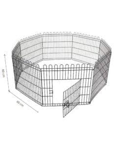 پارک سگ، 8 ضلعی، 60*60 سانتیمتر، آبکاری استیل