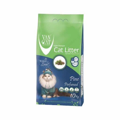 خاک گربه با خاصیت جمع شوندگی بالا، با رایحه کاج جنگلی، ۱۰ کیلوگرمی، برند وَن کت