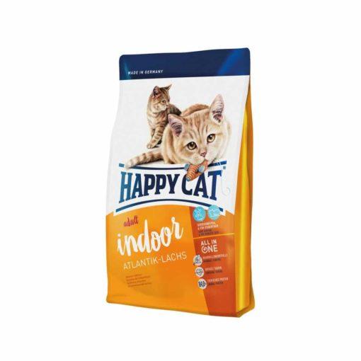 غذای خشک گربه بالغ داخل خانه، حاوی ماهی سلمون، 1.4 کیلوگرمی، برند هپی کت