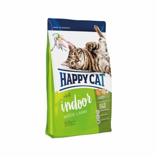 غذای خشک گربه بالغ داخل خانه، حاوی گوشت بره، 1.4 کیلوگرمی، برند هپی کت