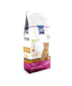 غذای خشک بچه گربه، حاوی مرغ، 1.5 کیلوگرمی، برند پاو پاو